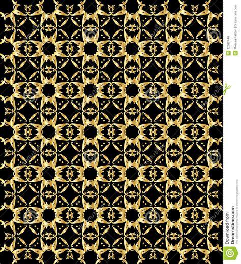 gold pattern black background gold pattern on black background 5 stock vector