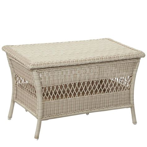 White Wicker Patio Table Johnny S Bargain Warehouse Hton Bay Park White Wicker Outdoor Trunk Table