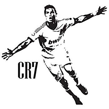 Wallsticker Logo Madrid cristiano ronaldo cr7 real madrid wall decal sticker