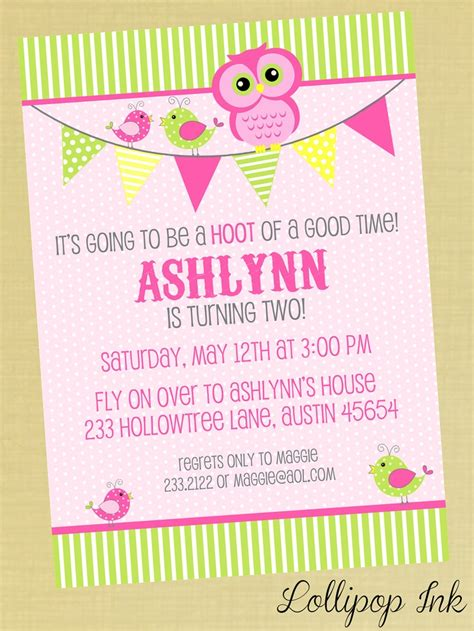 printable birthday invitations with owls sweet owl printable birthday invitation emmy s 1st