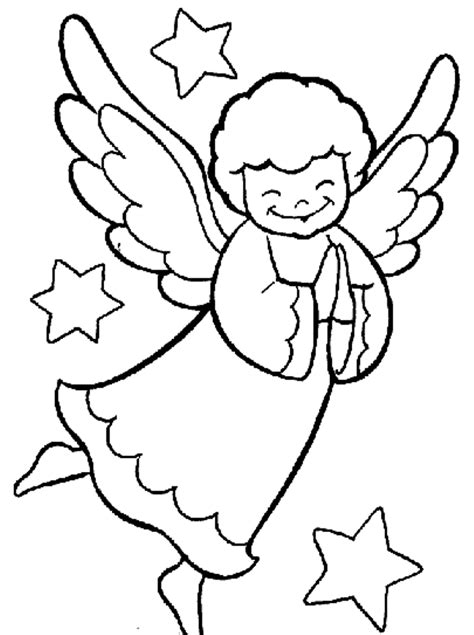 coloring page angels free coloring pages for christmas angel christmas