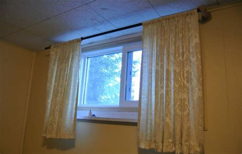 Curtains For Basement Windows How To Basement Window Curtains Cabinet Hardware Room