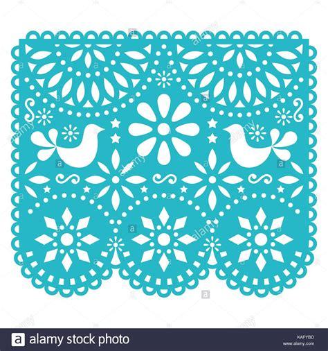 papel picado template for papel picado vector template design mexican paper