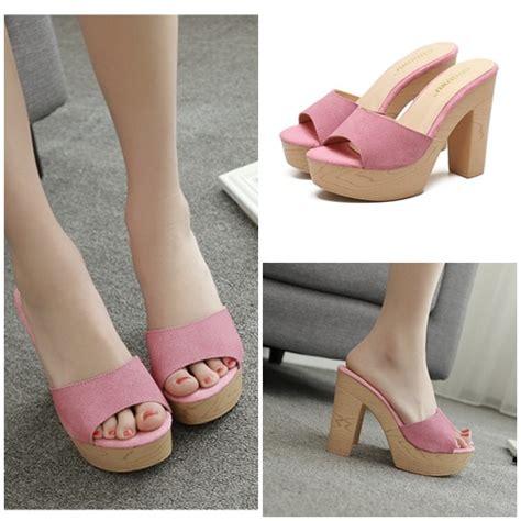 Sepatu Wanita Heel 12cm jual shh88323 pink sepatu heels fashion 12cm grosirimpor