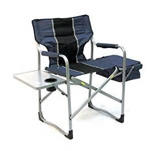 deluxe directors chair with cooler and side