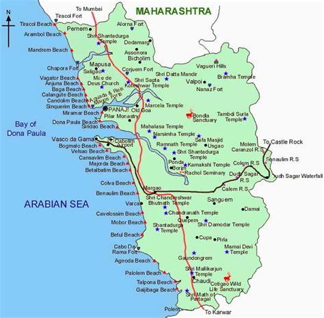 resort goa map goa map maps of goa goa maps