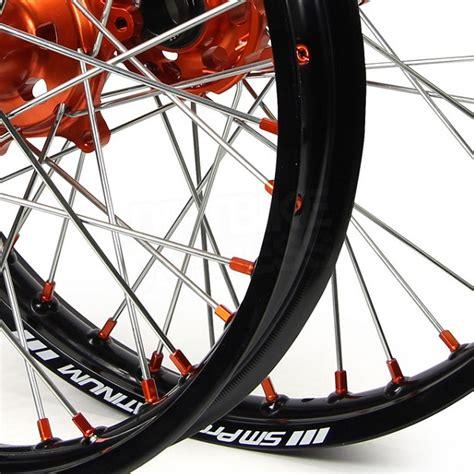wheels motocross bikes sm pro platinum motocross wheel set ktm black black