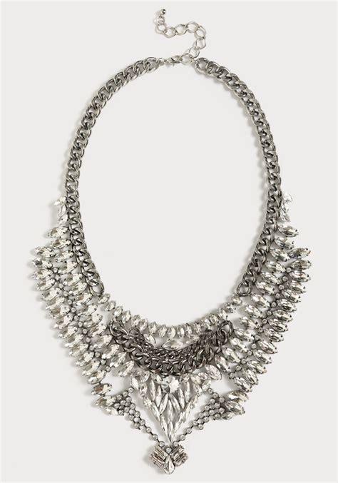 bebe bib necklace in silver in silver lyst