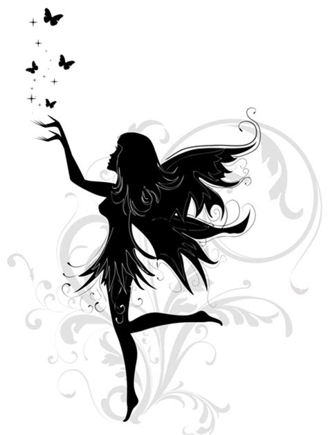 fairy silhouette tattoo designs designs human thoughts