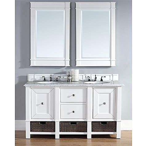 60 Inch White Dresser Buy Martin Furniture 60 Inch White Vanity With Drawers And White Top