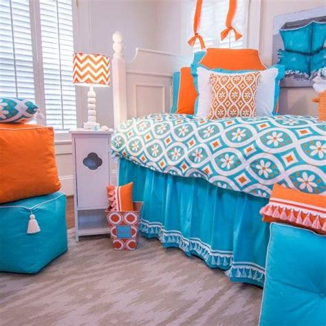 luxury turquoise and orange decor 58 for your image with dorm decorating ideas and inspiration
