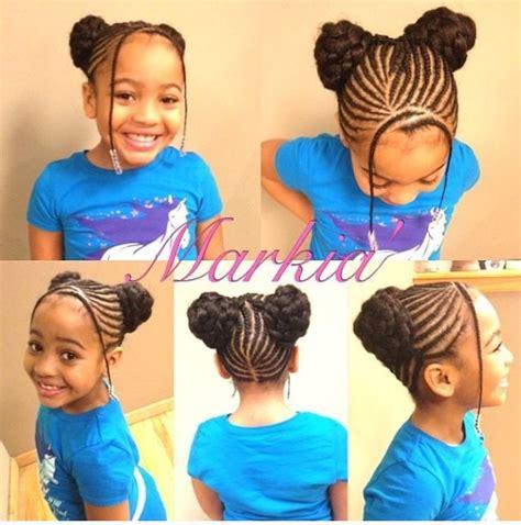kids flat braided bun hairstyles braided buns bangs beads hair pinterest my hair