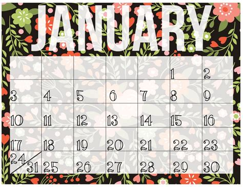 printable calendar 2016 girly pretty big things june 2015