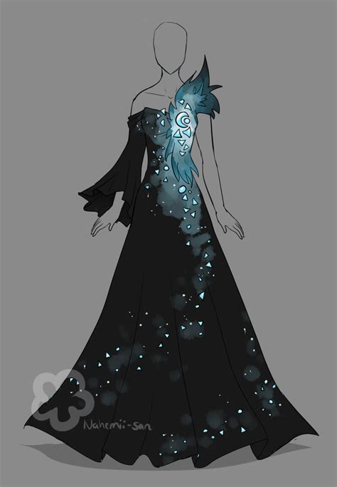 art pattern dress crystal dress auction closed by nahemii san on deviantart