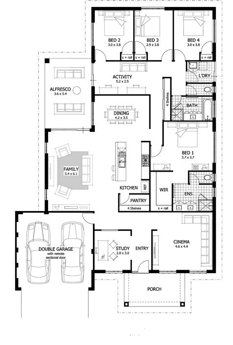 Plans For 4 Bedroom House by 4 Bedroom House Plans Home Designs Celebration Homes
