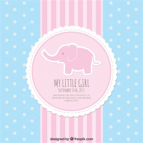 pink and blue baby shower card vector free download
