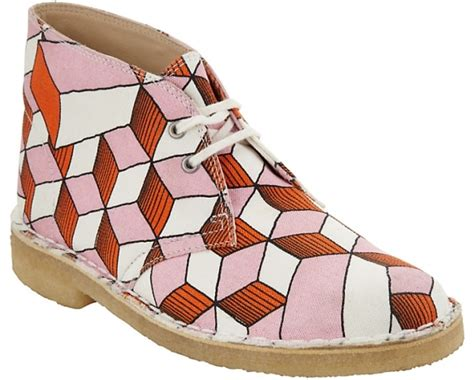 Eley Kishimoto Cut Out Court Shoe by Clarks Ancient Eley Geometric Print Court Shoes 7 Stunning