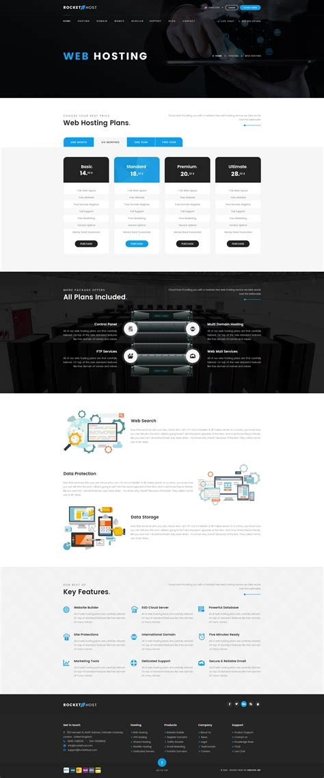 whmcs hosting templates rocket host whmcs hosting psd template by creative wp