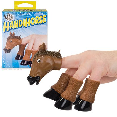 Fake Horse Head handihorse a five piece finger puppet set that transforms
