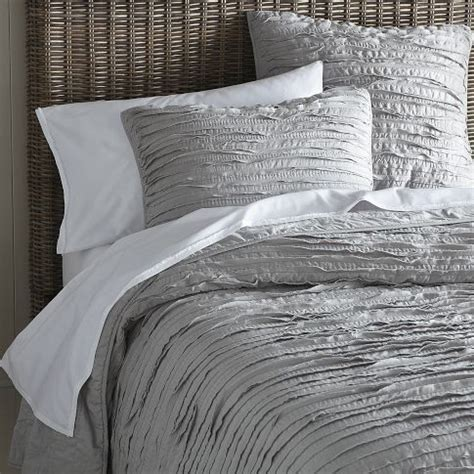 west elm comforter set frayed edge quilt shams platinum west elm http www