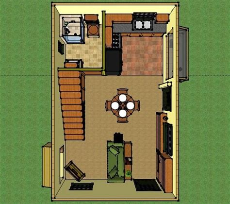 400 sq ft house plans misty s 400 sq ft 16x25 solar off grid small house