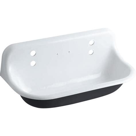 cast iron utility sink shop kohler white cast iron laundry sink at lowes com