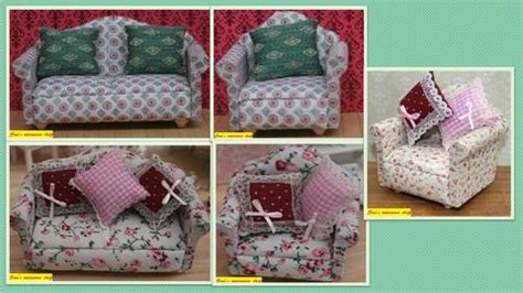 country cottage armchairs 1 12 dollshouse miniature sofa and armchairs country