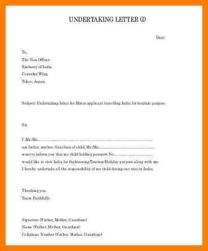 letter of undertaking template 6 undertaking letter exle science resume