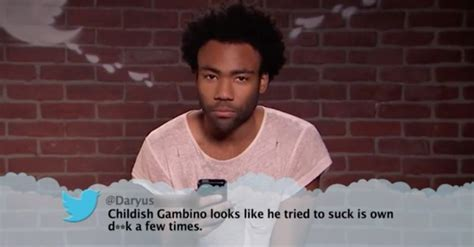 childish gambino like a version musicians read mean tweets 2 pilerats