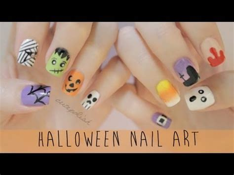 easy nail art by cutepolish nail art for halloween the ultimate guide youtube