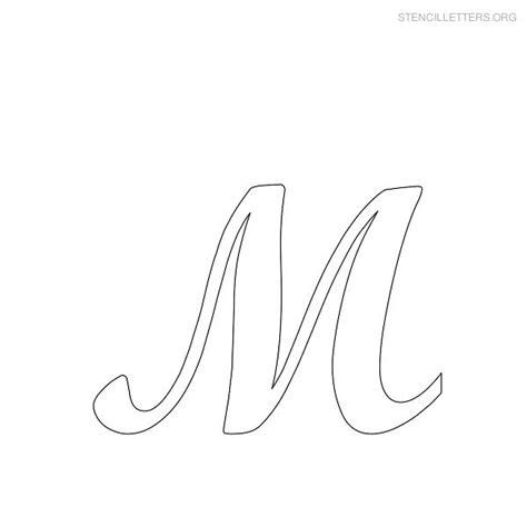 printable large script letters printable letter stencils stencil letter m printables to