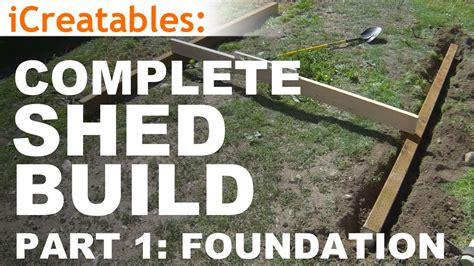 How To Build R For Shed by How To Build A Shed Part 1 The Shed Foundation