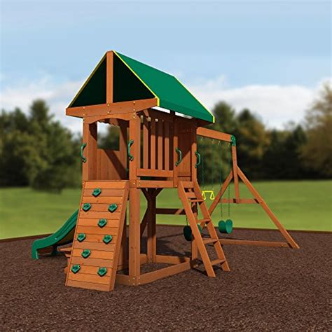 backyard discovery woodland backyard discovery somerset all cedar wood playset swing