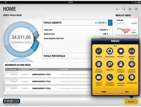 fineco mobile banking fineco con te ovunque tutti i servizi per gestire il
