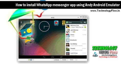 install messenger for android install whatsapp messenger app using andy android emulator