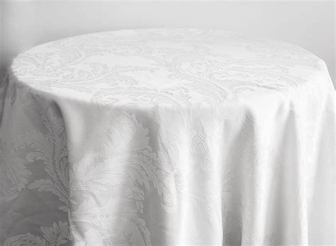 buy damask table cloths 132 round white from chair cover