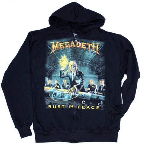 Hoodie Zipper Megadeth megadeth rust in peace 90 zip up hoodie with pockets new black sweatshirt ebay