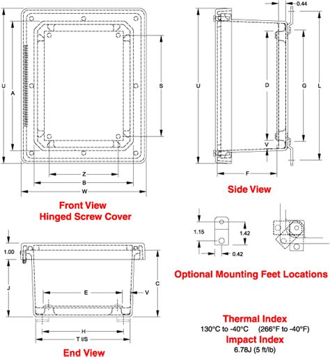 J Drawing Size electrical junction box sizes electrical free engine