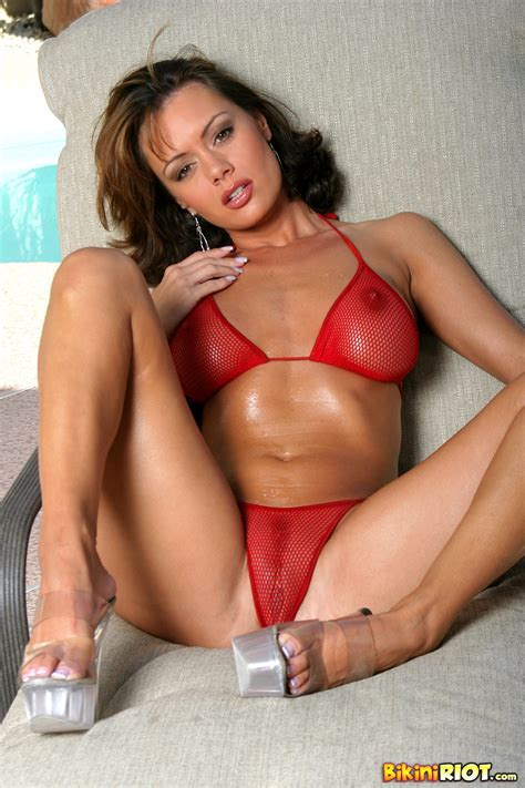 Crissy Moran Great Ass In Red Fishnet Thong Leenks Smut