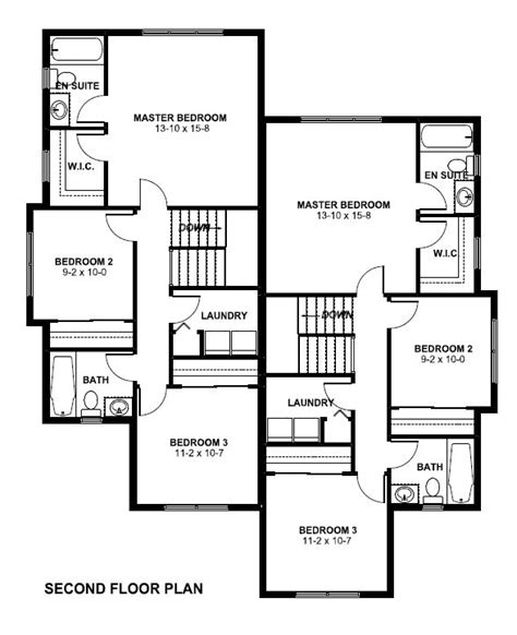 Multi Family Plan 96223 At Familyhomeplans Com Duplex House Plans In Canada