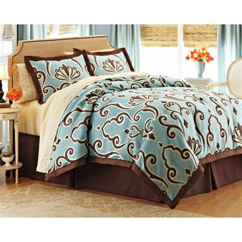 walmart better homes and gardens bedding better homes and gardens damask scroll 8 piece bed in a