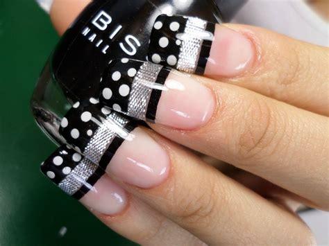 imagenes de uñas blancas y negras 50 divertidos dise 241 os de u 241 as con puntos