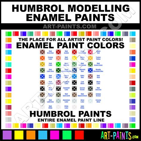 colors humbrol modelling paint color