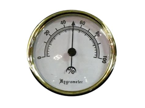 Analog Hygrometer White Large cigar humidifiers and hygrometers by ashton crown xikar savoy and cigar oasis