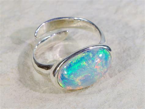 Opal Rings by Big Size Opal Ring Welo Opal Ring Opal Ring