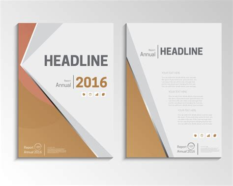 report cover page exle annual report cover design free vector 5 356