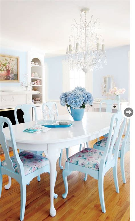 Dining Room Chairs In Blue Take A Look At These Chairs Painted In Pale