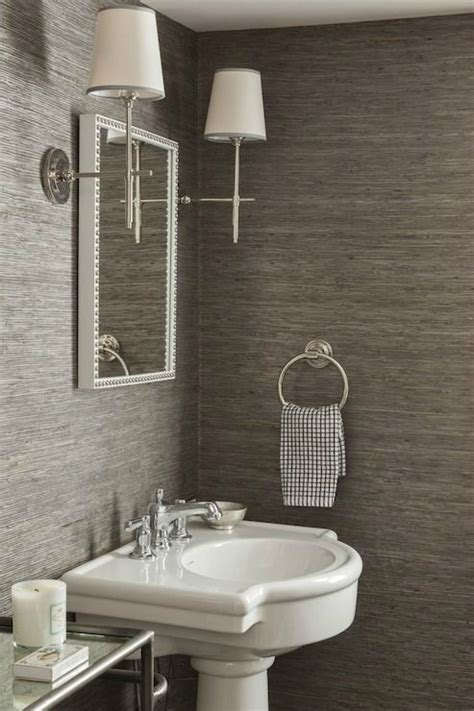 Grey Wallpaper Powder Room | 28 powder room ideas decoholic