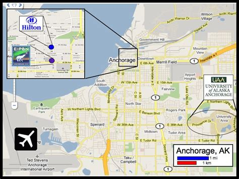 anchorage map map of alaska with cities and towns