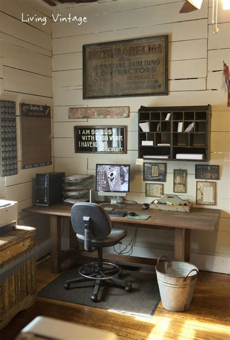 vintage home office decor 17 rustic office furniture ideas house design and decor